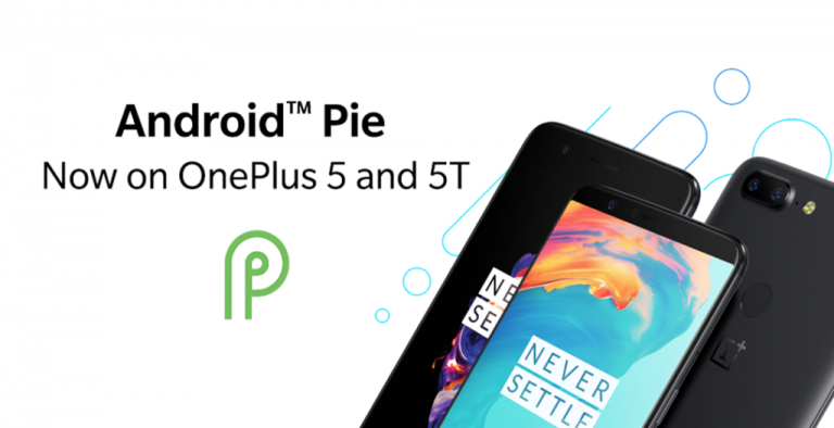 OnePlus 5 and OnePlus 5t have the Android Pie update