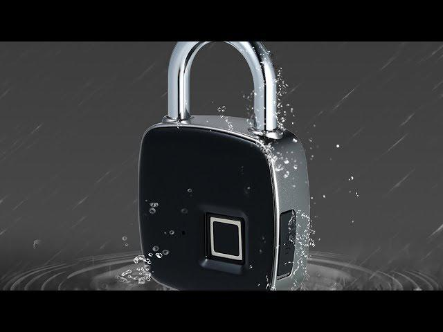 Padlock with fingerprint reader to help you safely store your belongings