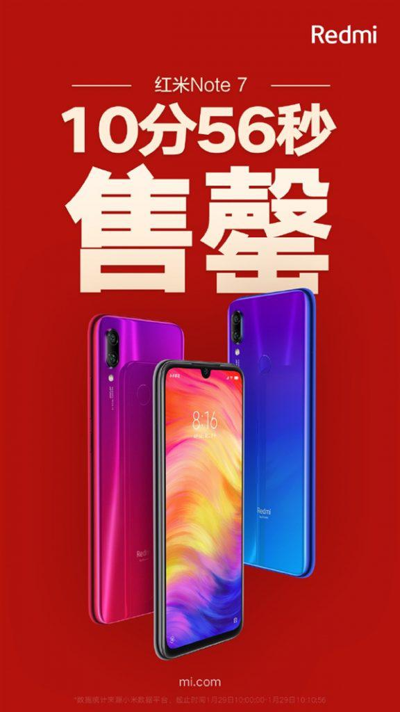 All the Redmi Note 7s have been sold out in 11 minutes